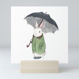 Mr. Tibbles Loves the Rain Mini Art Print