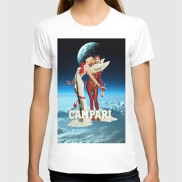 Classic Campari Alcoholic Angel & Devil - Earth, Sun, and Stars Aperitif Advertising Vintage Poster T-shirt