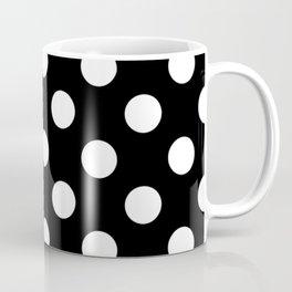Black - White Polka Dots - Pois Pattern Coffee Mug