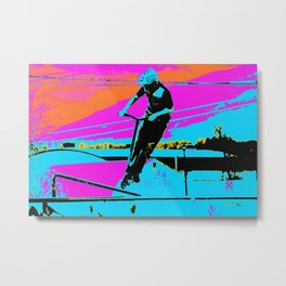 The Bunny Hop - Scooter Stunt Metal Print
