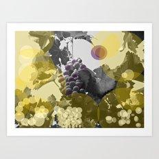 September is wine. Art Print