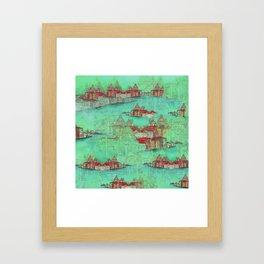 Venetian Green Framed Art Print