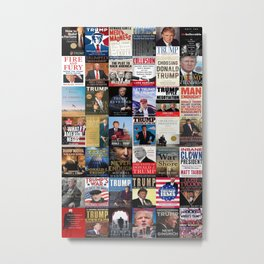 Donald Trump Books Metal Print