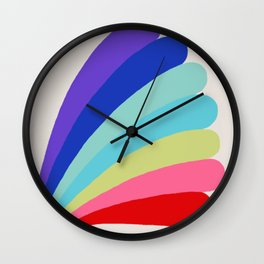 Rainbow Bomber Wall Clock