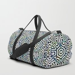 Love in the Black and White Structures Duffle Bag