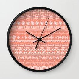 Coral-Licious Wall Clock
