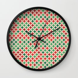 Multicolored Stars Pattern Wall Clock
