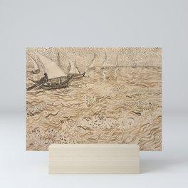 Vincent van Gogh - Boats at Saintes-Maries Mini Art Print