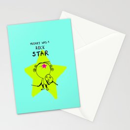 MOZART WAS A ROCK STAR (BLUE) Stationery Cards