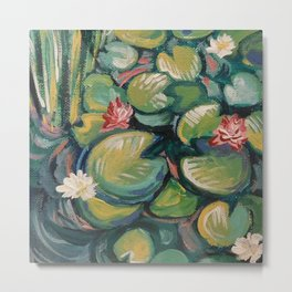 Lilies and Pads Metal Print