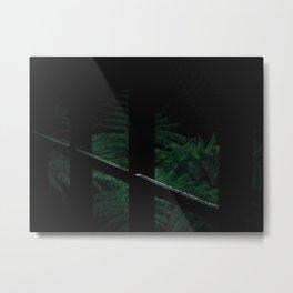 Secret Dark Japanese Garden Metal Print