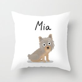 "Custom Artwork, ""Mia"" Throw Pillow"