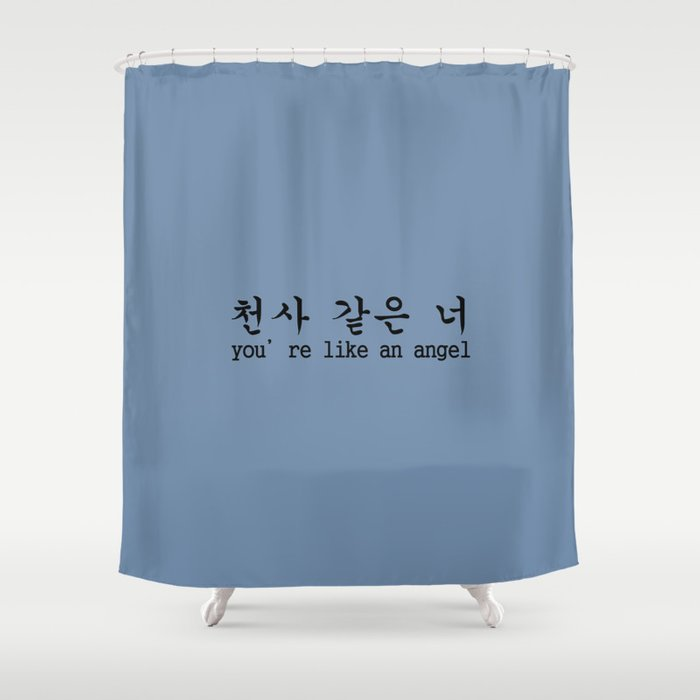 LIKE AN ANGEL Shower Curtain By 1004store