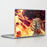 street fighter Laptop & iPad Skins featuring Ryu Street Fighter by RoPerez