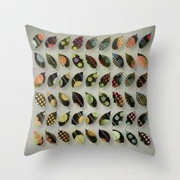Pop Leaves Throw Pillow