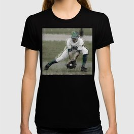 Stopping a Ground Ball in Baseball Game T-shirt