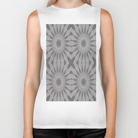 gray pattern Biker Tanks featuring Gray Flower by 2sweet4words Designs