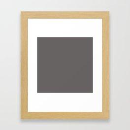 Cheap Solid Dark Ash Gray Color Framed Art Print