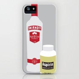Vodka & Aspirin iPhone Case