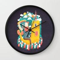 unicorn Wall Clocks featuring Unicorn by Seaside Spirit