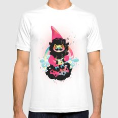 Whistling gnome Mens Fitted Tee White MEDIUM