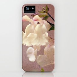 White flower and texture iPhone Case