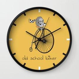 old school biker Wall Clock