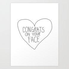 Congrats Art Print