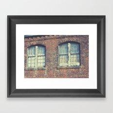Old Mill Windows Framed Art Print