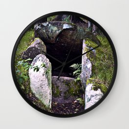 Megalithic Grave in Henneby in Denmark - Westjutland Wall Clock