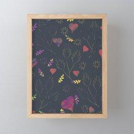 Spring Feeling Pattern, Spring emotions, Femanine pattern, Gifting spring feeling  Framed Mini Art Print