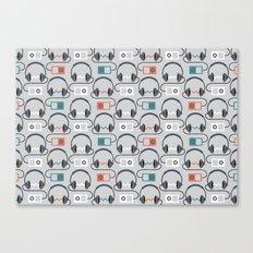 Headphones Pattern Canvas Print