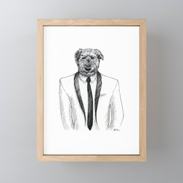 Dapper Doggo Framed Mini Art Print