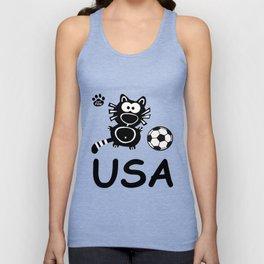 USA Katze Catpaw Ball Cats Soccer T-Shirt Fun Unisex Tank Top