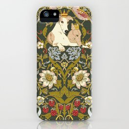 Whippets and Strawberry Thieves iPhone Case
