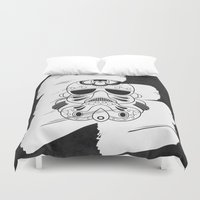 storm trooper Duvet Covers featuring Storm Trooper #3 by vrdgrs