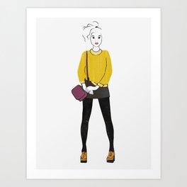Pilled (Yellow) Sweater Art Print