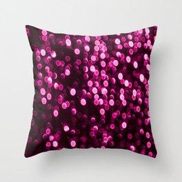 Bokeh Light In Purple Color #decor #society6 Throw Pillow