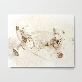 Teddy Bear Friends Metal Print