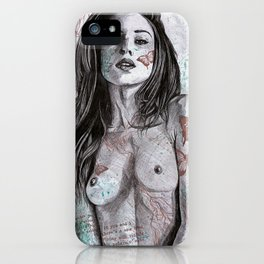 Nothing Violates This Nature (erotic drawing, nude butterfly girl) iPhone Case