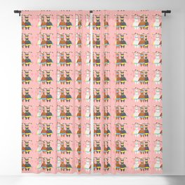 Alpaca Superheroes I Blackout Curtain