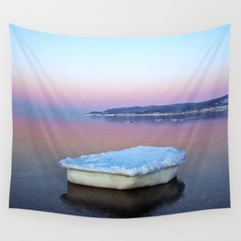 Ice Raft on the Sea Wall Tapestry