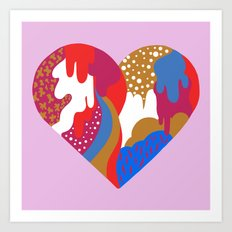 Drippy Heart Art Print