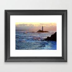 St Mary's Lighthouse Framed Art Print