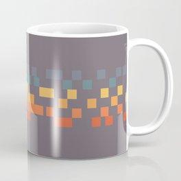 Classic 70s 80s STyle Retro Stripes Pixel Drops - Aimatsu Coffee Mug