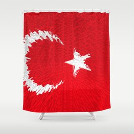Extruded flag of Turkey Shower Curtain