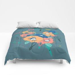 Flowers and Scissors Comforters