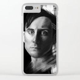 Stevie Aiello | Digital Portrait black & white Clear iPhone Case