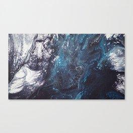 Icy crust Canvas Print