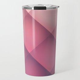Claret, Pink and White Mosaic Background Travel Mug